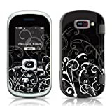 B&W Fleur Design Protective Skin Decal Sticker for LG Octane VN530 Cell Phone