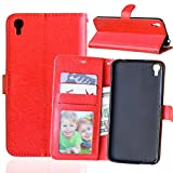 IDOL 3 Case, Asstar Alcatel OneTouch Idol 3 Wallet Case [Card Slot] Slim Fit Premium PU Leather Protective Case with Stand Feature for Alcatel OneTouch Idol 3 (5.5 inch) (Red)