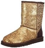 UGG Womens Classic Short Metallic Leopard Boots