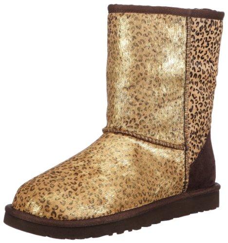 UGG Women's Classic Short Metallic Leopard Boots
