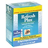Allergan Refresh Plus Lubricant Eye Drops,.Containers, 30-Count Boxes (Pack of 3)
