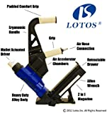 LSN3 LOTOS 2-in-1 Air Hardwood Flooring Cleat Nailer and Stapler Gun (Special deal by the end of this week)