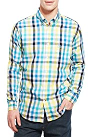 Blue Harbour Supersoft Pure Cotton Block Checked Shirt [T25-5265B-S]