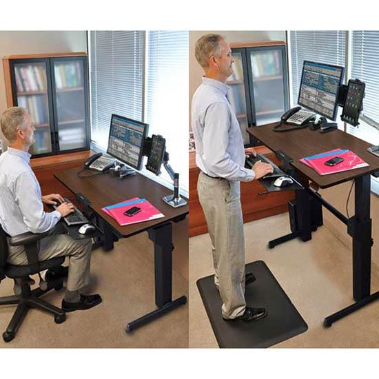 Amazon Com Ergotron Workfit D Sit Stand Desk Walnut