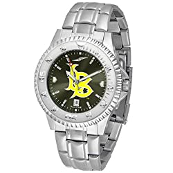 "Long Beach State 49ers NCAA Anochrome ""Competitor"" Mens Watch (Steel Band)"