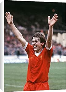 Canvas Print Of Kenny Dalglish Celebrates Winning The 1982 League Cup From Colorsport by Media Storehouse