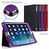 [CORNER PROTECTION] CaseCrown Bold Standby Pro Case (Purple) for Apple iPad Air with Sleep / Wake, Hand Grip, Corner Protection, & Multi-Angle Viewing Stand