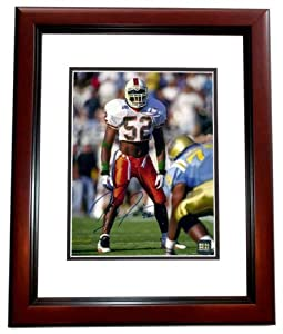 Ray Lewis Autographed Hand Signed Miami Hurricanes UM 8x10 Photo - MAHOGANY CUSTOM... by Real+Deal+Memorabilia