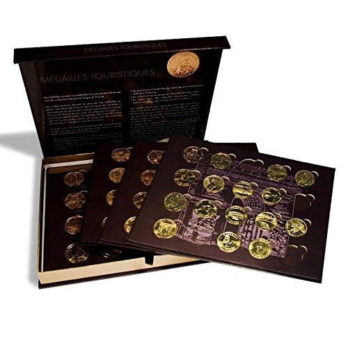 Coffret PRESSO pour 80 médailles souvenir, avec 4 plateaux