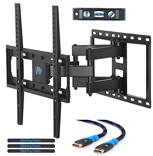 Mounting Dream MD2380 TV Wall Mount Bracket for most 26-55 Inch LED, LCD, OLED and Plasma Flat Screen TV, with Full Motion Swivel Articulating Dual Arms, up to VESA 400x400mm and 99 LBS with Tilting (Bracket For Flat Screen Tv compare prices)
