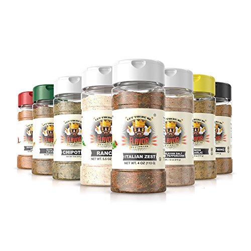 #1 Best-Selling 5Oz. Flavor God Seasonings (8 Bottle Italian Zest Combo Pack)
