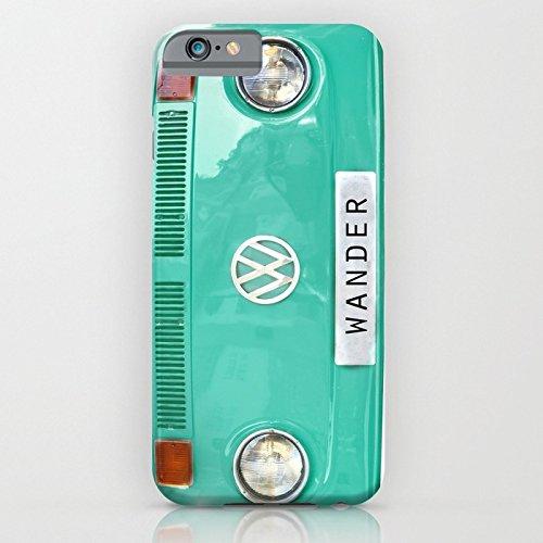 iPhone6ケース[4.7インチ] society6(ソサエシティシックス) Wander wolkswagen. Summer dreams. Green フォルクスワーゲン デザイナーズ iPhoneケース 正規輸入品