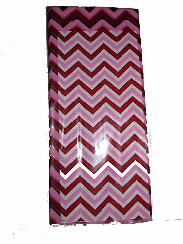 Red & Pink Missoni Cellophane Party Bags, 15 Count with Ties