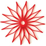 Spice Ratchet Blossom Multi-Use Silicone Trivet, Red