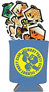 Filmbot Light Blue Koozie - Includes 4 Pack of Stickers