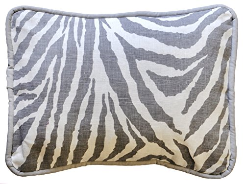 New Arrivals Accent Pillow, Gray/White