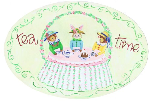 The Kids Room by Stupell Tea Time with Toys Oval Wall Plaque