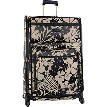 Tommy Bahama Luggage Gem 28-Inch Expandable Spinner, Black/Tan, One Size