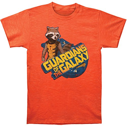 Guardians of the Galaxy Raccoon Orange T-Shirt Sheer