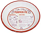Ceramic 'Recipe' Pie Plate (Pumpkin)