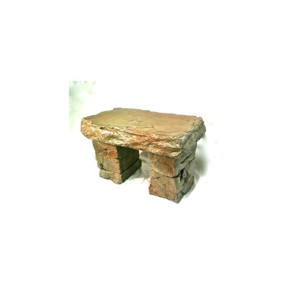 Astounding Garden Bench Cast Stone Granite Rock Bench 3 Piece Patio Customarchery Wood Chair Design Ideas Customarcherynet