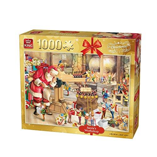 King Laboratorio di Babbo Natale Natale Jigsaw Puzzle, 1000 Pezzi