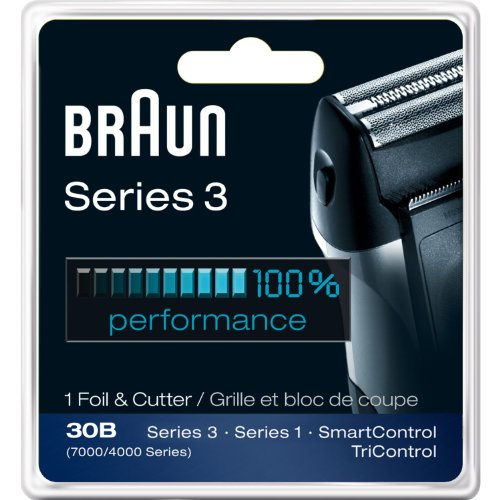 Braun Series 3 Combi 30b Foil And Cutter Replacement Pack (7000/4000 Series) New Super Size Package (2 Replacements) (Braun Shaver 4000 compare prices)