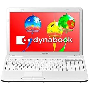 TOSHIBA dynabook B351/121C ノートPC Windows7HomePremium搭載 15.6型ワイド リュクスホワイト PB35121CSGW
