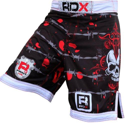 RDX Flex Pro Fight Shorts UFC MMA K1 Cage Grappling-White, Small (29