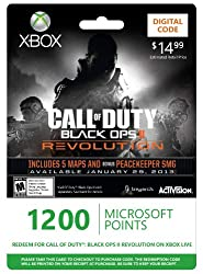 Xbox LIVE 1200 Microsoft Points for Call of Duty: Black Ops II Revolution [Online Game Code] by Microsoft