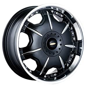 """Baccarat Director 1150 Black Wheel with Machined Lip (18x7.5""""/10x100mm)"""