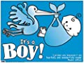 Blue Plastic Yard Sign It is a Boy Christian Verse 24 inches Wide x 18 Inches High