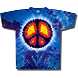 Youth Tie Dye Mania Peace Sign Tie-Dye Short Sleeve T-shirt