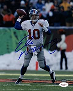Eli Manning Signed Photo - 8x10 - JSA Certified - Autographed NFL Photos