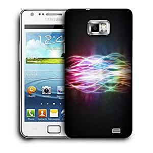 Snoogg Abstract Rays Printed Protective Phone Back Case Cover For Samsung Galaxy S2 / S II