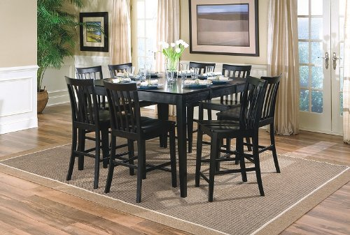 Cool 9Pcs Contemporary Black Counter Height Dining Table 8 Gmtry Best Dining Table And Chair Ideas Images Gmtryco