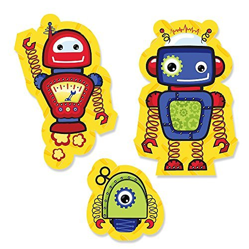 Robots - DIY Shaped Party Cut-Outs - 24 Count