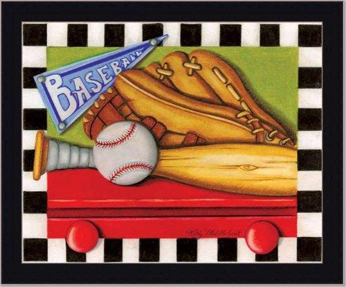 Baseball Sport Boys Room Decor Sign Art Print Framed front-486245