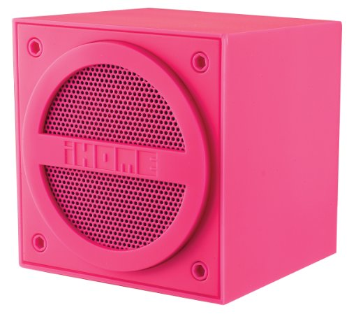 Ihome Bluetooth Rechargeable Mini Speaker Cube - Pink (Ibt16Pc)
