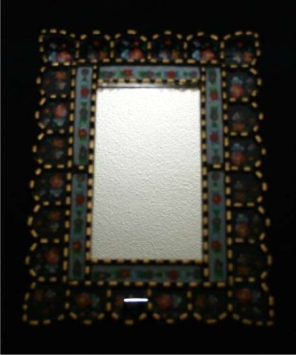 Extra 60% Off Gilted Wood Frame Mirror Vintage Decorative Antiqued GWM_BLUERECT_002