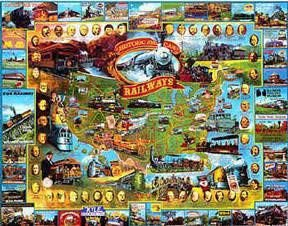 Cheap White Mountain Historic American Railways 1000 Piece Jigsaw Puzzle (B0006NDB7A)