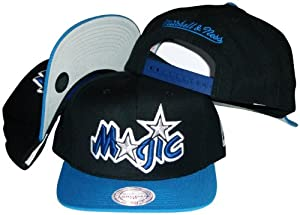 Orlando Magic Mitchell & Ness Black Throwback Vintage Snap Back Hat by Mitchell & Ness
