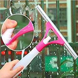 window glass cleaner with sprayer bottle and wiper - all in one