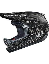 Troy Lee Helmet D3 Pinstripe II Carbon, Black (2015)