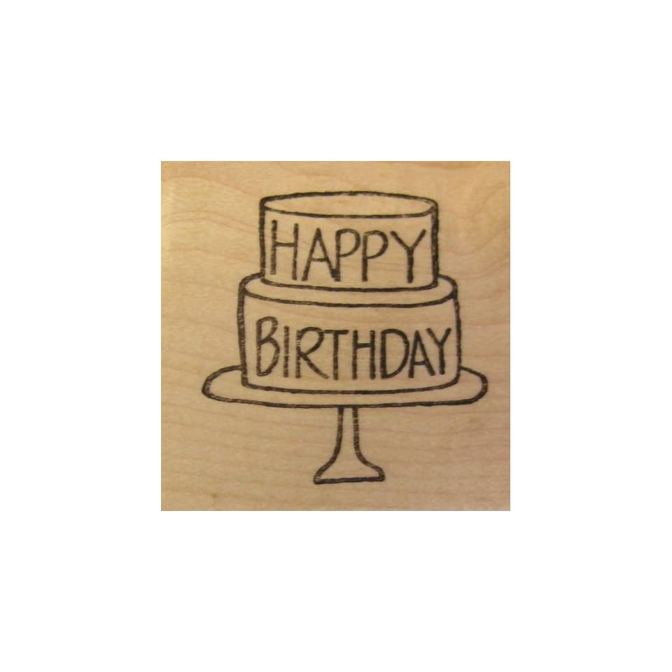 Happy Birthday Cake Mounted Stamp // Savvy Stamps