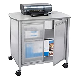 Safco Products 1859GR Impromptu Deluxe Machine Stand with Doors, Gray
