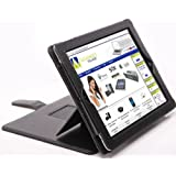 Apple iPad 3 Advanced Pro® Multi-Function Case Luxury Executive Wallet / Cover / Stand / Flip Case With Sleep Sensor - White (Designed for the New Apple iPad 3rd Generation 2012)