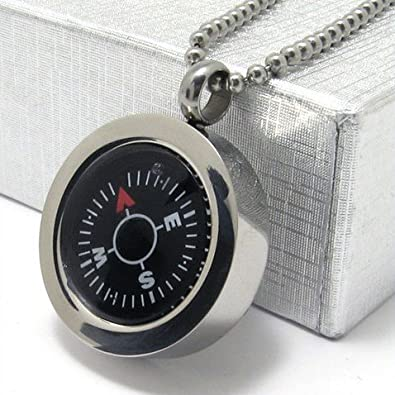 titanium compass necklace