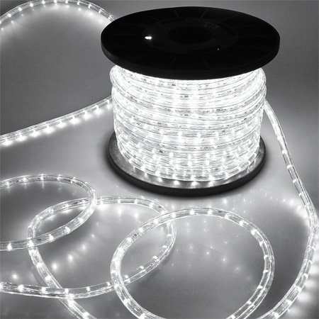 White II Christmas Lighting LED Rope Light 150ft