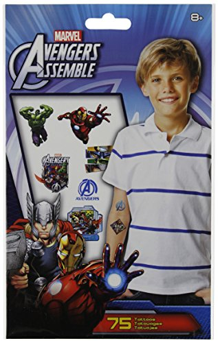 Marvel Avengers Assemble Temporary Tattoos - 75 Ct. - 1